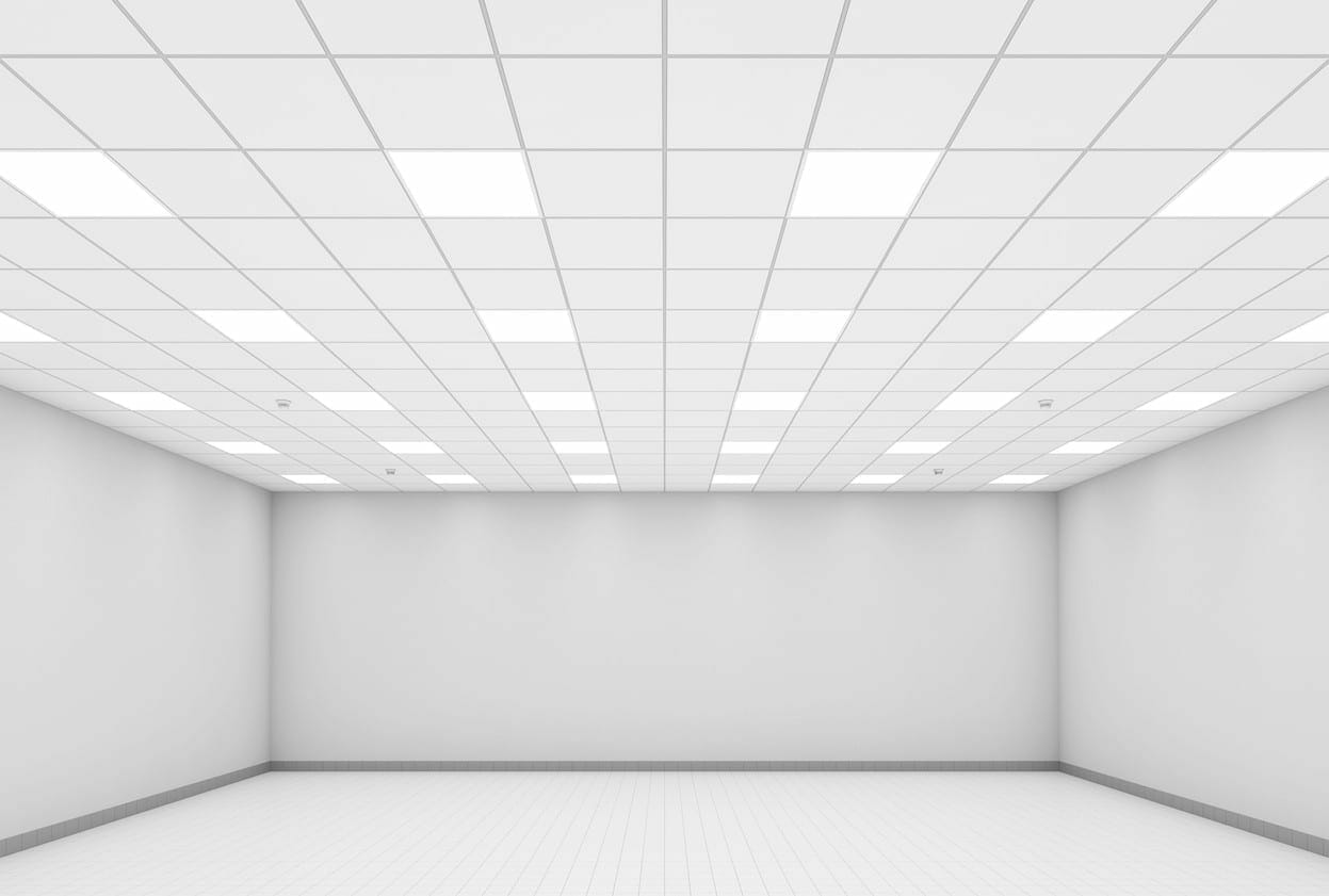 Abstract modern white office interior background 3d
