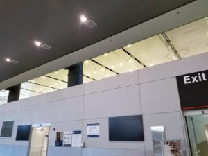 high power led recessed lights installed at airport