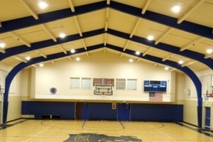LED High Bays inside Gym